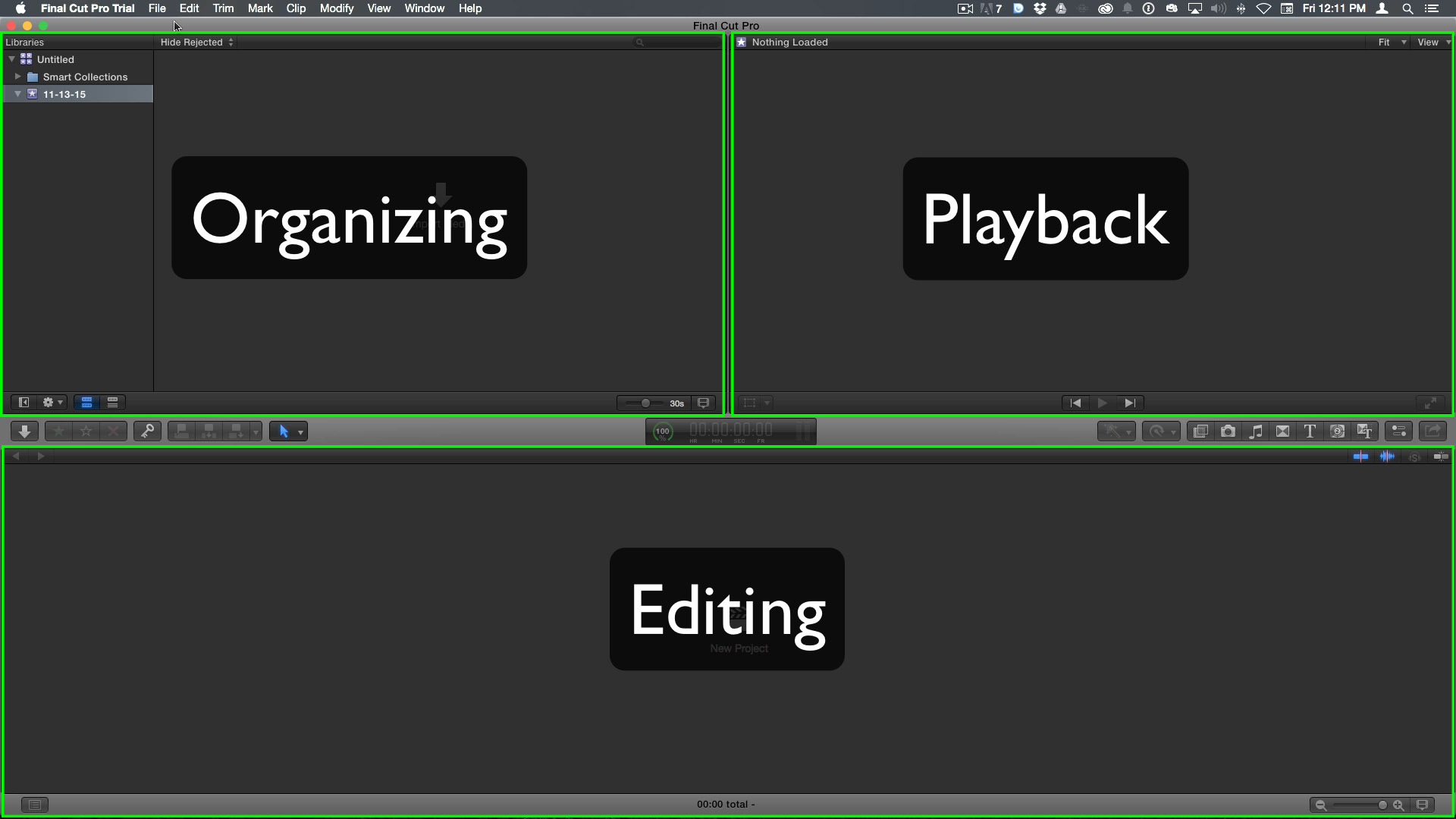 Final Cut Pro X User Interface